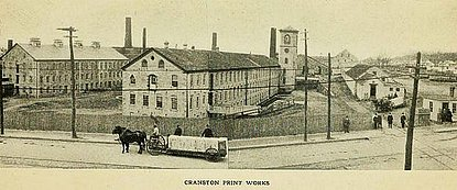 Cranston Printworks in the Late 19th/Early 20th Century