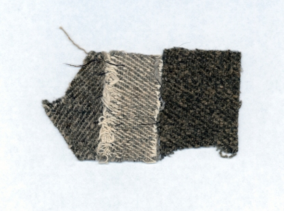 Negro Cloth Sample 1835 Rhode Island