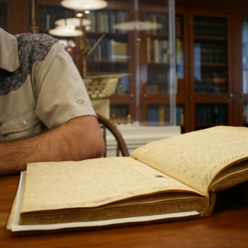 Reading through 19th Century Whaling Logs in the Grimshaw-Gudewicz Reading Room and Archives at the New Bedford Whaling Museum